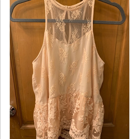 Abercrombie & Fitch Tops - A&F Champagne Color Laced Tank Top